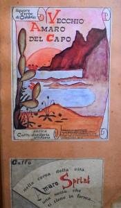 Vecchio Amaro del Capo Calabria altes Etikett