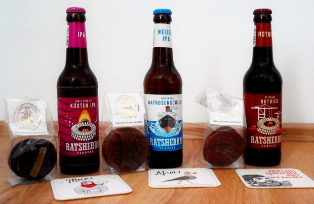 Pairing Evers Schokotaler Ratsherrn Bier quer